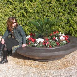 Mago Dish Planter Bench Combo 5