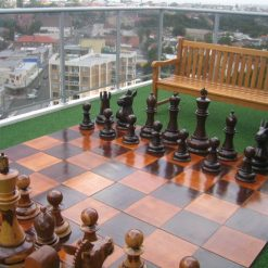 Giant 60cm Teak Chess 9