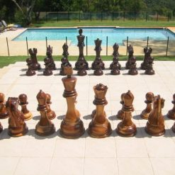 Giant 90cm Teack Chess 2