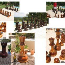 Giant 90cm Teack Chess 3