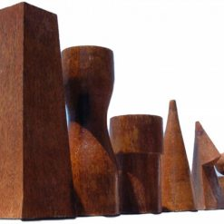 Giant Geometric 50cm Teak Chess 1