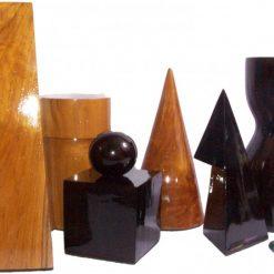 Giant Geometric 50cm Teak Chess 2