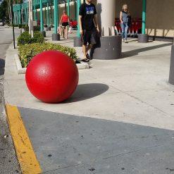 13009-bollard-750-site-painted-sphere