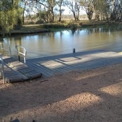 183110 Canoe launch ramp at Kings Billabong