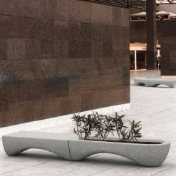 Mago Waves Bench Seat Planter 2