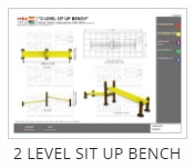 Outdoor Fitness Equipment - 2 Level Sit Up Bench Thumb