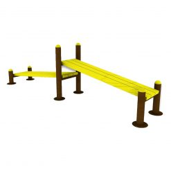 Outdoor Fitness Equipment - 2 Level Sit Up Bench-f
