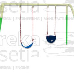 Heavy Duty Swing 2 Seater - Belt & Bucket