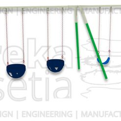 Heavy Duty Swing 4 Seater - Belt & Bucket