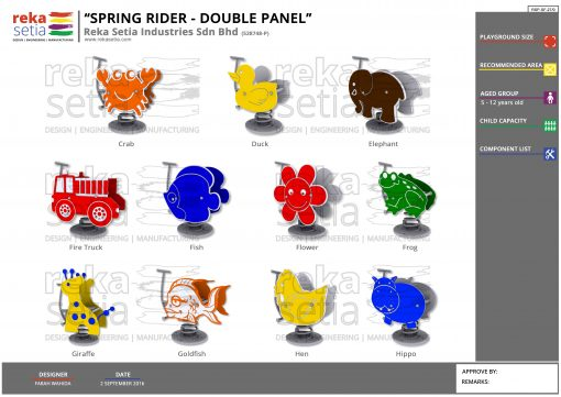 Spring Rider Double Panel 2
