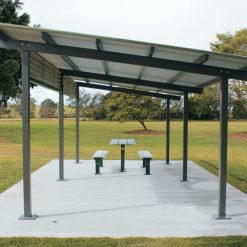 Crescent Aluminium Skillion Shelter 1