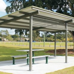 Crescent Aluminium Skillion Shelter 2