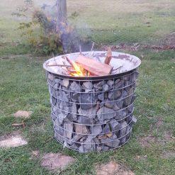 Gabion Fire Bowl 9