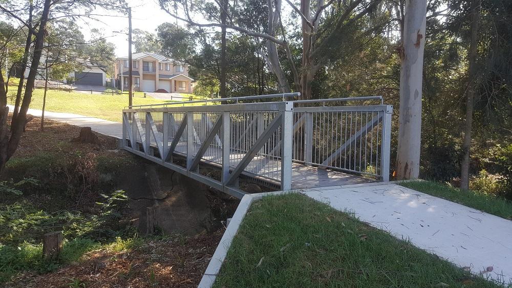 Pedestrian Bridge Reisling Steel Rumsey 2
