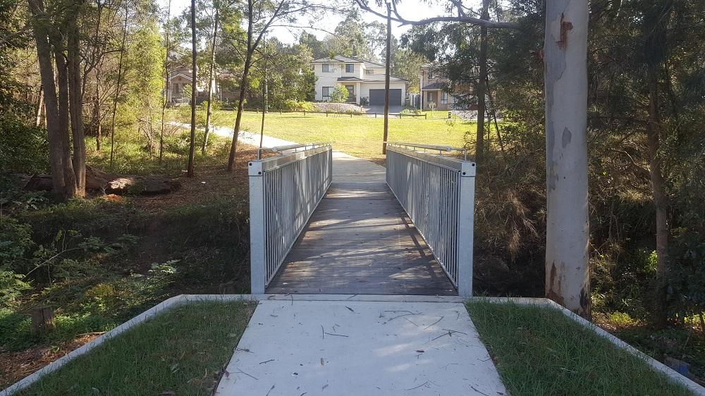 Pedestrian Bridge Reisling Steel Rumsey 3