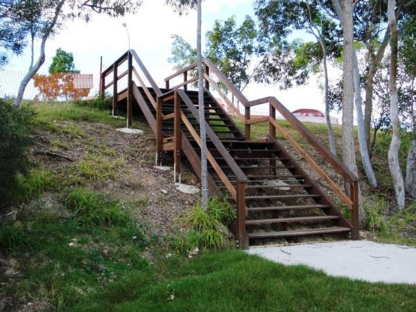 outside products  u2013 timber access stairs