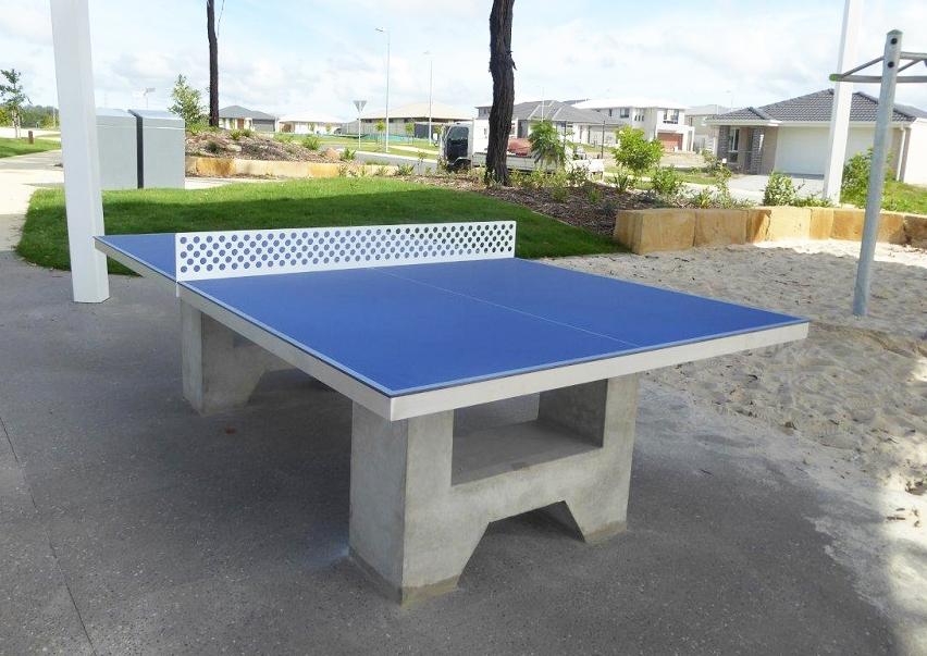 AusCast Outdoor Concrete Table Tennis Table Blue 24207-5