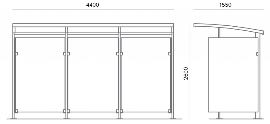 Euromodul Bus Shelter 102 103 Moodie Outdoor Products