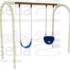Arch Swing 2 Seater - Belt + Bucket