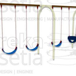 Arch Swing 4 Seater - Belt & Bucket