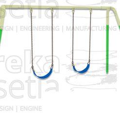 Heavy Duty Swing 2 Seater - Belt
