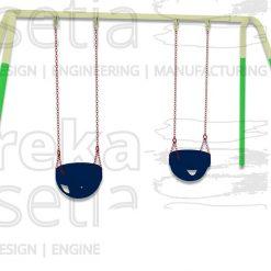 Heavy Duty Swing 2 Seater - Bucket