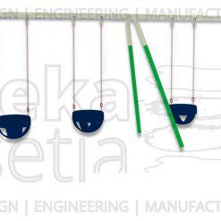 Heavy Duty Swing 4 Seater - Bucket