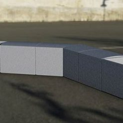 Street Furniture Wilshire GFRC Bench & Planter 1