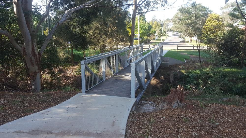 Pedestrian Bridge Reisling Steel Rumsey 1
